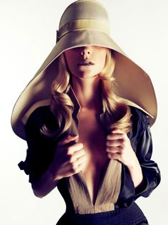 Who needs to see when a hat is this fabulous ! #hat