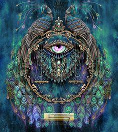 Trippy Feral digital art Art, Visionary art s digital artist - Digital Art Art Visionnaire, Bijoux Art Nouveau, Psy Art, Art Graphique, Visionary Art, Psychedelic Art, Fractal Art, Trippy, Oeuvre D'art