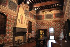 Palazzo Davanzati is a palace in Florence, Italy. It houses the Museum of the Old Florentine House. The palace consists of a facade that unifies a grouping of earlier, medieval tower homes that the owner purchased with the intent to put them together.