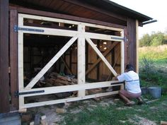 Examine this crucial photo in order to take a look at today suggestions on Diy House Updates Garage Door Trim, Carriage House Garage Doors, Carriage Doors, Garage Shed, Garage Door Design, Shed Design, Gate Design, Shop Doors, A Frame House
