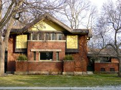 Frank Lloyd Wright - His home and studio in Oak Park, Illinois