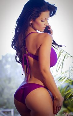 a8a8d99d6f Denise Milani preview of her newest set Purple Bikini. Sexy Lingerie,  Pretty Brunette,