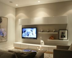 two shelves above tv - Google Search More
