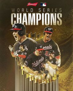 Nationals win at the time; in the first WS to feature the road team winning every game. Washington Nationals Baseball, Sports Advertising, Mlb Wallpaper, Mlb World Series, Base Ball, Breastfeeding Problems, The Outfield, National Championship, Atlanta Braves