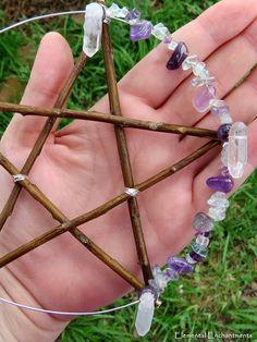 Beaded pentagram