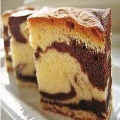 Caribbean marble cake. (chocolate and vanilla sponge)