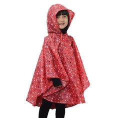 Kid Toddler Girls Raincoat Stars Poncho Waterproof Hooded Rainwear red S. Material: nylon, durable and waterproof, Protects Kids from the Wind and Rain. S Size: Fit for 80-100cm /31-39 inch kids. M Size: Fit for 100-125cm /39-49 inch kids. L Size: Fit for 125-150cm /49-59 inch kids. Rain Jacket for boys or girls,for Age 4~10 Years,7-15 days to arrive.