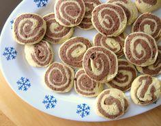 Chocolate Pinwheel Refrigerator Cookies Recipe -- gluten-free, dairy-free