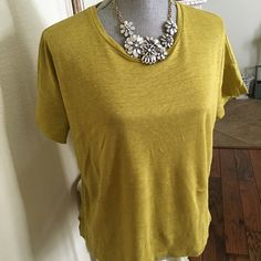 New - J Jill top Perfect casual top for spring and summer. Pair with linen crops for a relax weekend trend.  Cotton with linen blend that can be passed for Eileen Fisher line. Relax fit. J Jill Tops Blouses