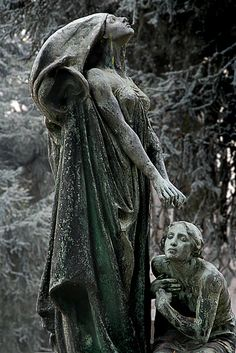 stone monument, turin cemetary, italy [darkface-blessing-by-iskald] Cemetery Angels, Cemetery Statues, Cemetery Art, Recoleta Cemetery, Old Cemeteries, Graveyards, Art Sculpture, Memento Mori, Art Plastique