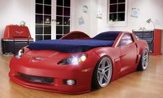 Corvette Bed. My little boy would love to have this bed and so would my husband!