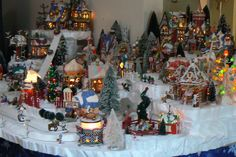 Hello there and welcome to 56th and Main custom village displays. This listing is here to get you started on a custom display landscape that I (Nichole) will design and build for your collection of Department 56 or Lemax (or any other companys) collectible miniature Christmas houses. If