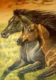 Resultado de imagen para caballos pintados con acrilico