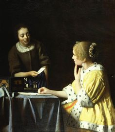 Jan Vermeer. Mistress and Maid. c1667.