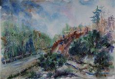 Watercolour paintings – Landscape Original painting – a unique product by Radikacolours on DaWanda
