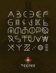 #tepee #alphabet #creative #fonts
