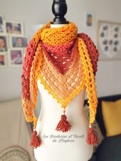 Crochet – Les Récréations de Mayleen Jaune Orange, Crochet, Fashion, Tuto Doudou, Winnie The Pooh Ears, Woman Clothing, Tricot, Chrochet, Moda