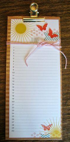 Perpetual Birthday Calendar Stampin Up