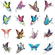 Hot Selling Men And Women Temporary Tattoos Waterproof Stickers Butterfly -- Details can be found by clicking on the image. (This is an affiliate link) Butterfly Drawing, Butterfly Tattoo Designs, Butterfly Painting, Butterfly Wallpaper, Blue Butterfly, Leg Tattoos, Flower Tattoos, Small Tattoos, Best Temporary Tattoos