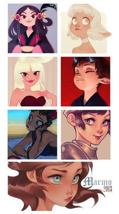 Pin de Character Design References em Character Design | Faces (Femal…