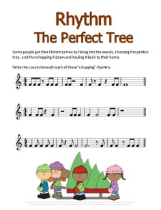 Free Christmas worksheet. Kids write the counts beneath the notes. This is going to help my students a ton!