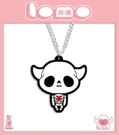 SALE  KAWAII SKELETON  Super cute Kawaii necklace by TomoIsland,