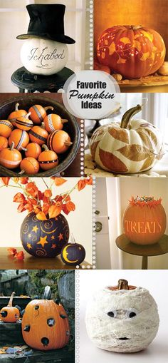 Halloween / Pumpkin Decorating - loving these ideas.  You may see a few at my house this year.