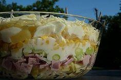 Side Salad Recipes, Salad Recipes For Dinner, Pasta Salad Recipes, Healthy Salad Recipes, Dessert Recipes, Seven Layer Salad, Seven Layer Dip, Chicken Stir Fry Sauce, Layered Bean Dip