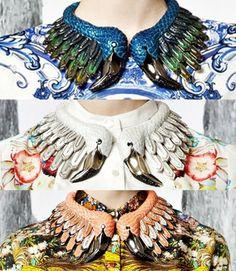 cavalli resort 2013, shoes, accessories, flamingo necklaces
