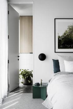 on trend: this modern white scandi bedroom