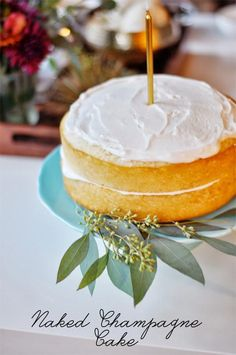 Naked Champagne Cake | via Style Within Reach