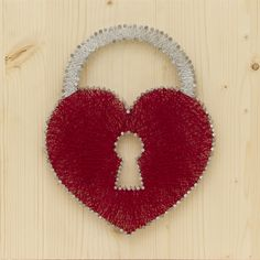 www.wallstring.com HEART LOCK - String Wall Art. Totally hand made, 30cm x 30cm string wall art. It's an original and stylish statement piece for your home, office or nursery. Would also make a perfect gift! Each product is hand-made individually when your order is placed. Please allow up to 30 days to handcraft and ship. Custom orders are always welcome. You can ask to order different color combinations or sizes via e-mail.