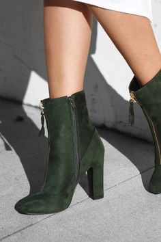 2c2dfd919ed1 dark green Public desire boots - black Nasty Gal top Green Ankle Boots