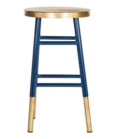 Love this Navy & Gold Counter Stool on #zulily! #zulilyfinds