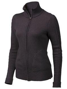 Marmot - Women's Jillian Sweater ($100 direct) 40% Wool, 35% Cotton, 25% Nylon 7ga ; 12.7oz (is it itchy?) - for under light jacket?