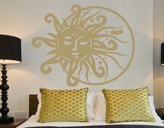 Sun & Moon - Wall Decals / Wall Tattoo
