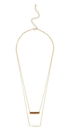 Layered Bars Necklace   MARCIANO.com