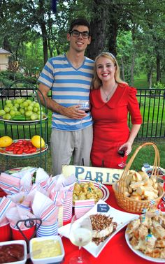 French garden party Host and Hostess