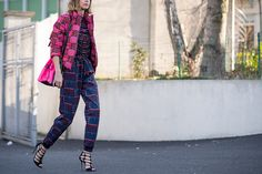 Candela Novembre wearing Jimmy Choo Sandals at PFW.