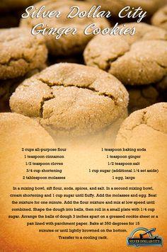 #Silverdollarcity Ginger Cookies