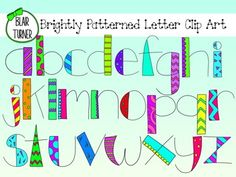 Brightly Patterned Letter Clip Art $