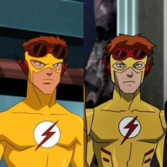 wally west and bart allen as kid flash it makes me happy that impulse become kid flash :)