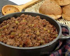 Sloppy Joes Wing Recipes, Meat Recipes, Pasta Recipes, Crockpot Recipes, Hamburger Recipes, Healthy Recipes, Sausage Recipes, Tator Tot Hotdish Recipes, Hamburger Hotdish