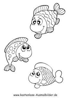 Die 14 besten Bilder zu Fische Ausmalbilder | Ausmalbilder ...