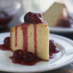 Olive Oil Cake with Cherry Compote | Williams-Sonoma