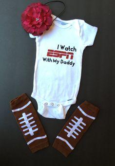 San Francisco Giants Onesie Bodysuit Shirt Watching With Daddy