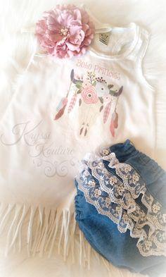 Boho Princess Fringe Shirt Boho Baby Boho by ArtistasBoutique Bohemian Baby Clothes, Toddler Outfits, Girl Outfits, Bohemian Headpiece, Flower Girl Dresses Boho, Fringe Shirt, Business Baby, Cute Baby Girl, Baby Girls