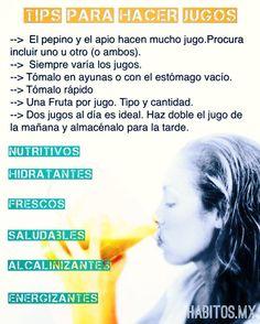 Tips para hacer jugos verdes. #hábitosmx #hábitos #salud #health