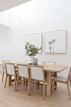 Dining Room Wall Decor, Dining Room Design, Dining Rooms, Dining Tables, Dining Room Modern, Dining Area, Wooden Dining Chairs, Entryway Wall, Kitchen Tables