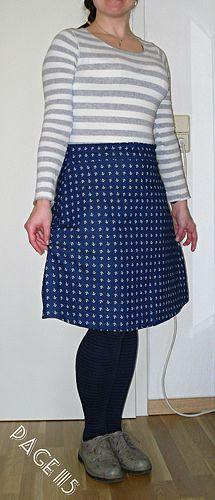 """Rock Delphine aus dem Buch """"Liebe auf den ersten Stich""""  Delphine skirt made from the book """"Love at first Stitch"""""""